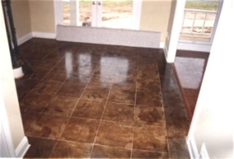 Patio Acid Stain by Acid Stained Concrete Floors David S Floors