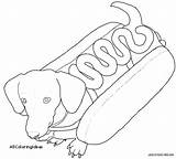 Dachshund Coloring Pages Printable Dog Weiner Printables Chow Sheets Colorings Getdrawings Getcolorings Template Adult Stencil Face sketch template