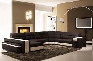 Canape Angle Cuir Blanc : canap mobilier priv ~ Teatrodelosmanantiales.com Idées de Décoration