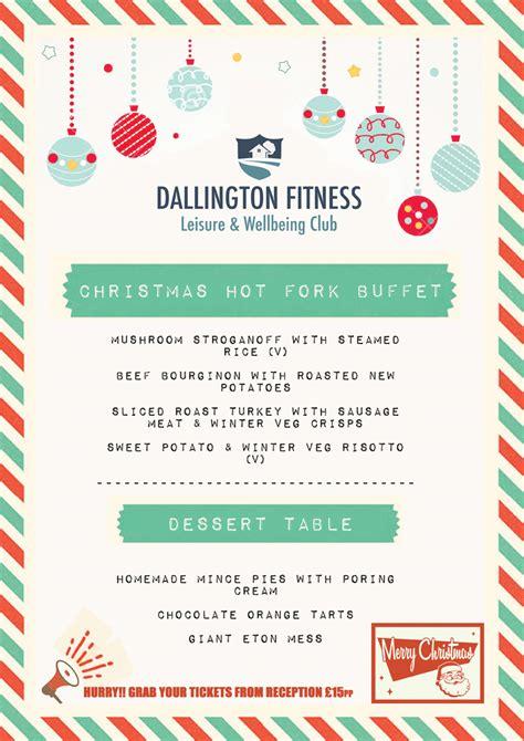 christmas party menu menu dallington fitness