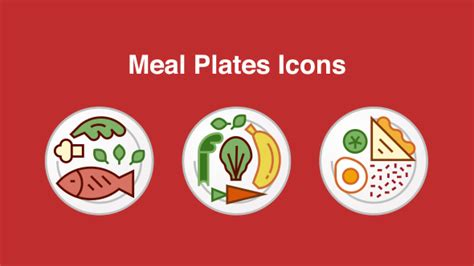 meal plates icons  carlopico videohive