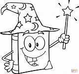 Wand Magic Coloring Wizard Pages Holding Drawing Printable sketch template