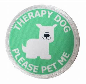 Therapy Dog Sew-on Patch- 3 Inch - CoolHubcaps.com