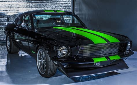 vintage electric mustang bleeds torque  hits  mph