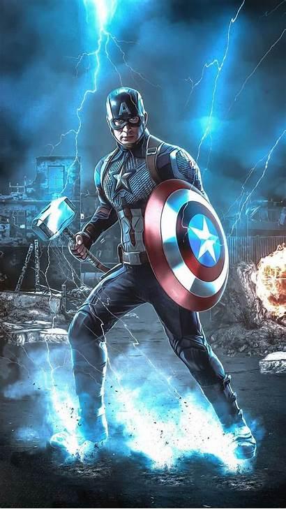 Captain America Thor Hammer Iphone Wallpapers Avengers