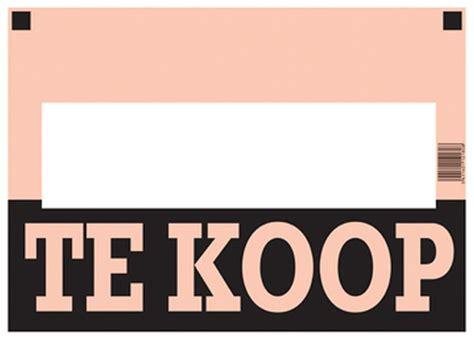 Te Koop Yde by Affiche Te Koop