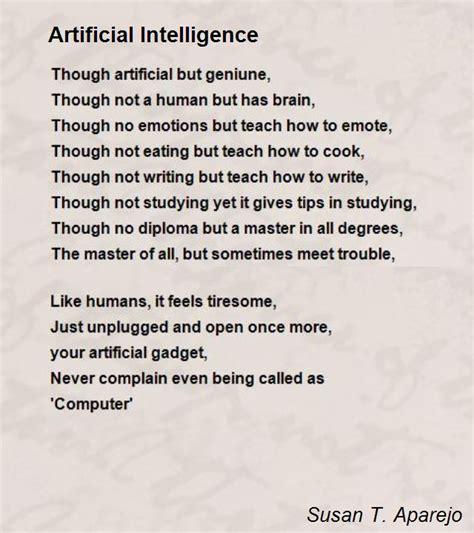 artificial intelligence poem by susan t aparejo poem