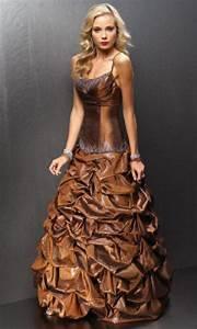 bronze bridesmaid dresses With bronze wedding dress