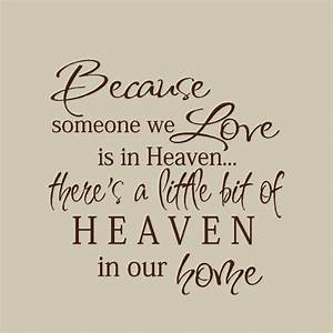 Because someone we love is in heaven wall decal vinyl for Because someone we love is in heaven vinyl lettering