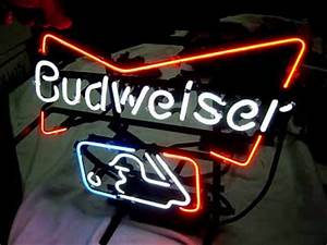 Wiki Neon Sign Blog MLB BUDWEISER BUD LIGHT BASEBALL NEON