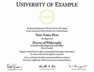 buy a fake college degree online With phd diploma template