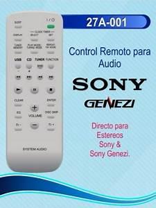 Control Remoto Sony Genezi Estereo Rm
