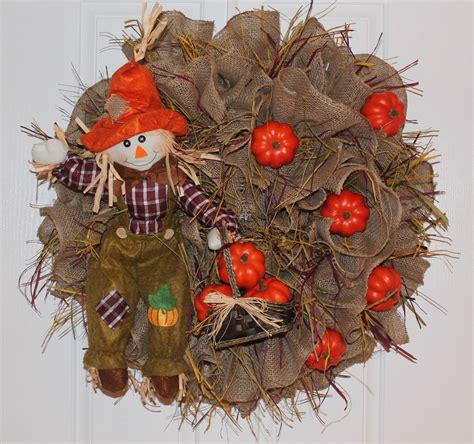 "Diy Burlap Wreath ""scarecrow Pumpkin""  The Wreath Depot"