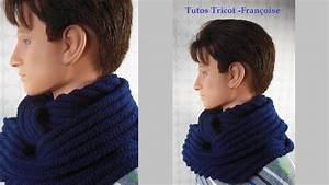 Echarpe Homme Tricot : tuto tricot echarpe tube homme mailles endroit snood ~ Melissatoandfro.com Idées de Décoration