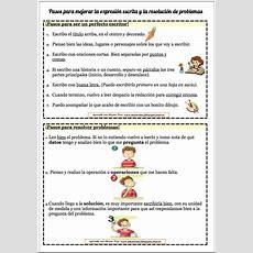 Pasos Para Mejorar La Expresión Escrita Y Las Resolución De Problemas  Actividades Educativas Y