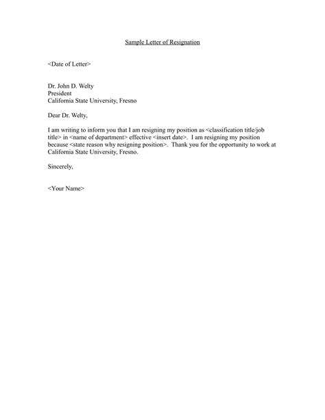 employee resignation letter examples  word