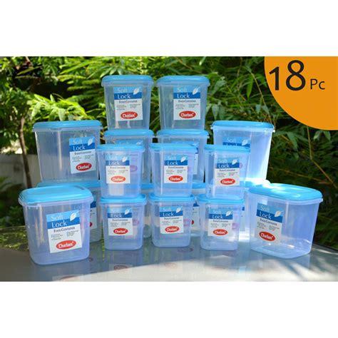buy chetan set   pcs plastic airtight kitchen storage