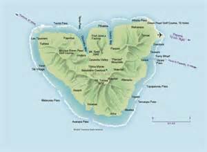 Moorea Island Tahiti Map