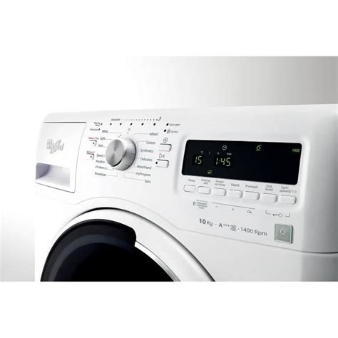 lave linge moteur a induction whirlpool awoe41048 lave linge frontal 10 kg 1400 tours min a moteur induction lave linge