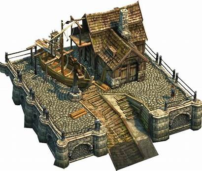 Shipyard Medieval Fantasy Town Concept Building Anno