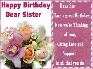 Happy Birthday Sister - WishBirthday.com