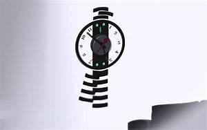 Horloge Pas Cher : horloge murale sticker design balancier pas cher ~ Teatrodelosmanantiales.com Idées de Décoration