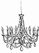 Chandelier Draw Clipart Drawing Chandeliers Drawings Transparent Drawn Mareca Webstockreview sketch template