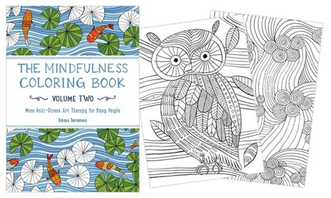 25 off on mindfulness coloring books 2pc groupon goods