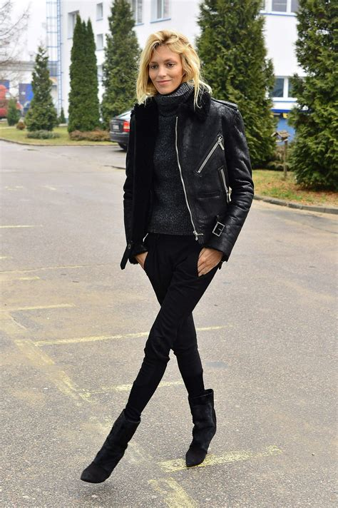 Style 2015 Frühling by Anja Rubik Style Out In Warsaw Poland January 2015
