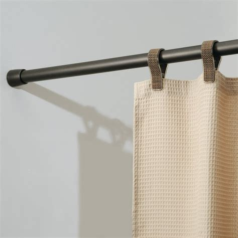 tension curtain rods installing shower curtain tension rod the homy design