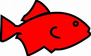 Fish Outline-red Clip Art at Clker.com - vector clip art ...