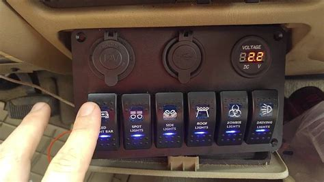 How To Make A Boat Dash Panel by Review Teqstone 6 Switch Led Light Bar Panel With Volt