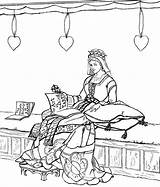 Coloring Medieval Pages Ages Middle Princess Times Chamber Sheets Printable Getcolorings sketch template
