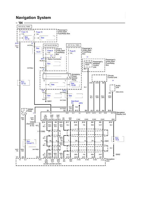 acura multiplex wiring diagram rsx unit installation