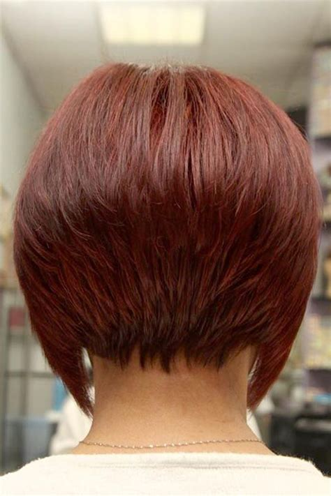 the treatment of short bob hairstyles back view short
