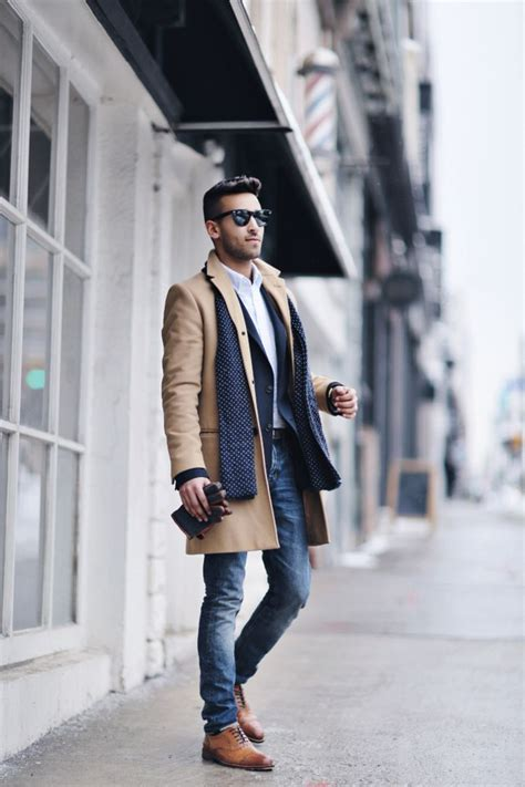 winter trends fall fashionable mens casual clothes outfit outfits jeans male coat classic smart clothing styles looks stylish dress wear