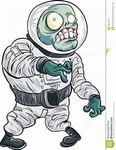 Cartoon Zombie Astronaut Stock Photo - Image: 46010418