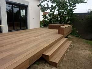 terrasse bois ipe a basse goulaine nantes 44 With terrasse en bois sur plot
