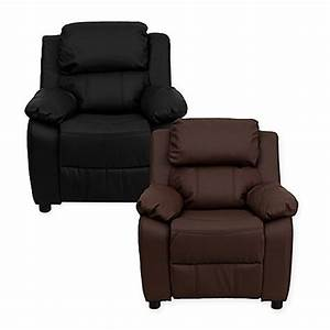 flash furniture leather kids recliner with storage arms With bed recliner pillow