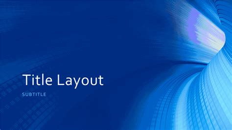 business digital blue tunnel
