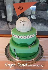 40th Birthday Golf Themed Cake