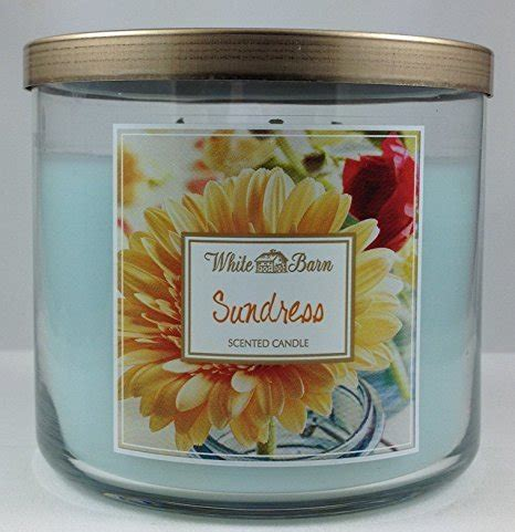 white barn candles bath works 3 wick candle white barn sundress