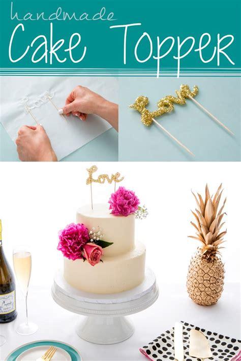 handmade cake topper using hot glue make diy cake decor