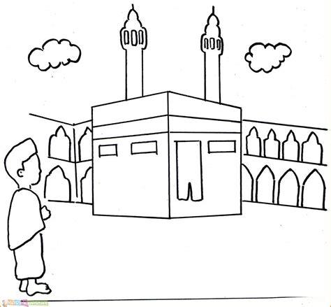 gambar kartun keluarga islami hitam putih
