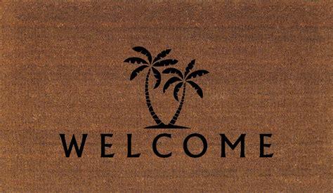 palm tree doormat palm trees welcome door mat coir doormat rug 2 by