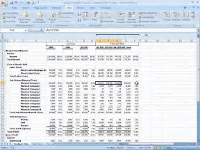 Financial Forecast Template Excel by How To Build A Basic Financial Projection Business