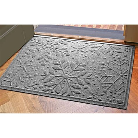weather guard mats weather guard 23 inch x 35 inch snowflake door mats bed