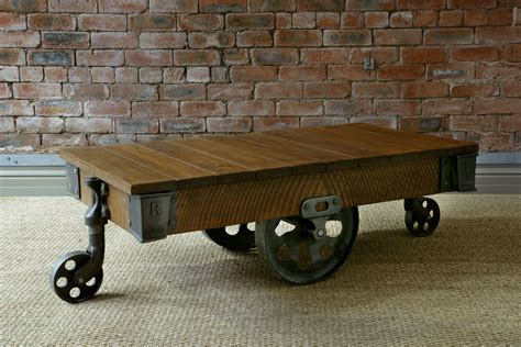 Reclaimed Mill Cart Coffee Table, Handcrafted By Indigo
