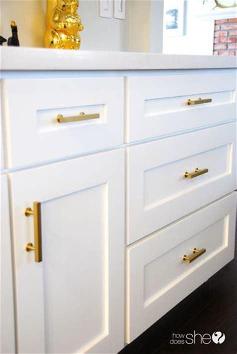 White Kitchen Gold Eye by Going Gold Diy Eye Shadow Hardware Cabinet Hardware