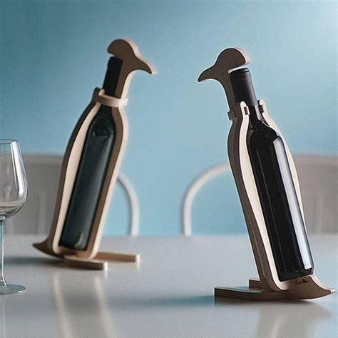 animal wine holder penguin vintage animal wooden wine rack bottle holder storage tabletop furniture ebay